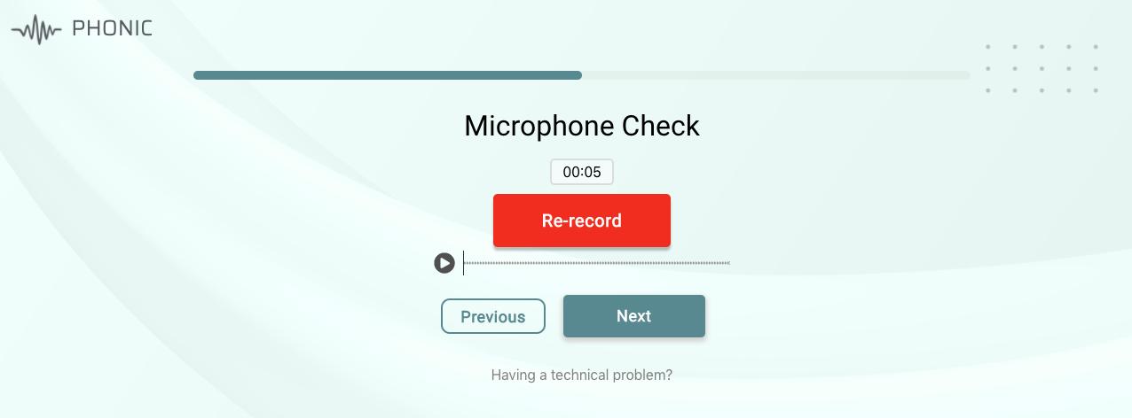 failed microphone test 1